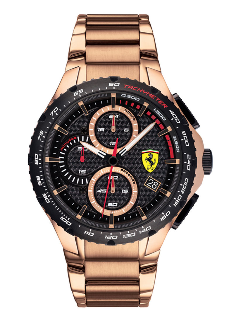 Scuderia Ferrari Watches Buy Scuderia Ferrari Black Stainless Steel Watch Online Nykaa Fashion