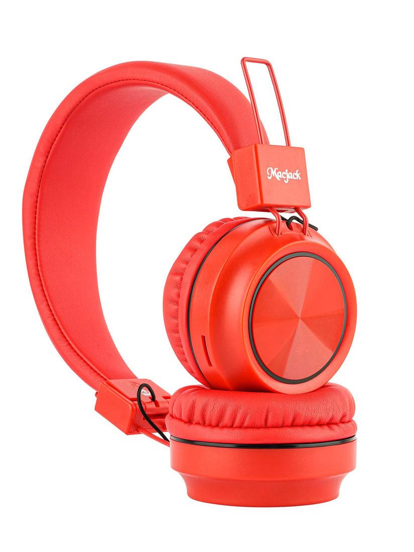 Macjack Headphones Buy Macjack Red Wave 300 On Ear Bluetooth Headphones Online Nykaa Fashion