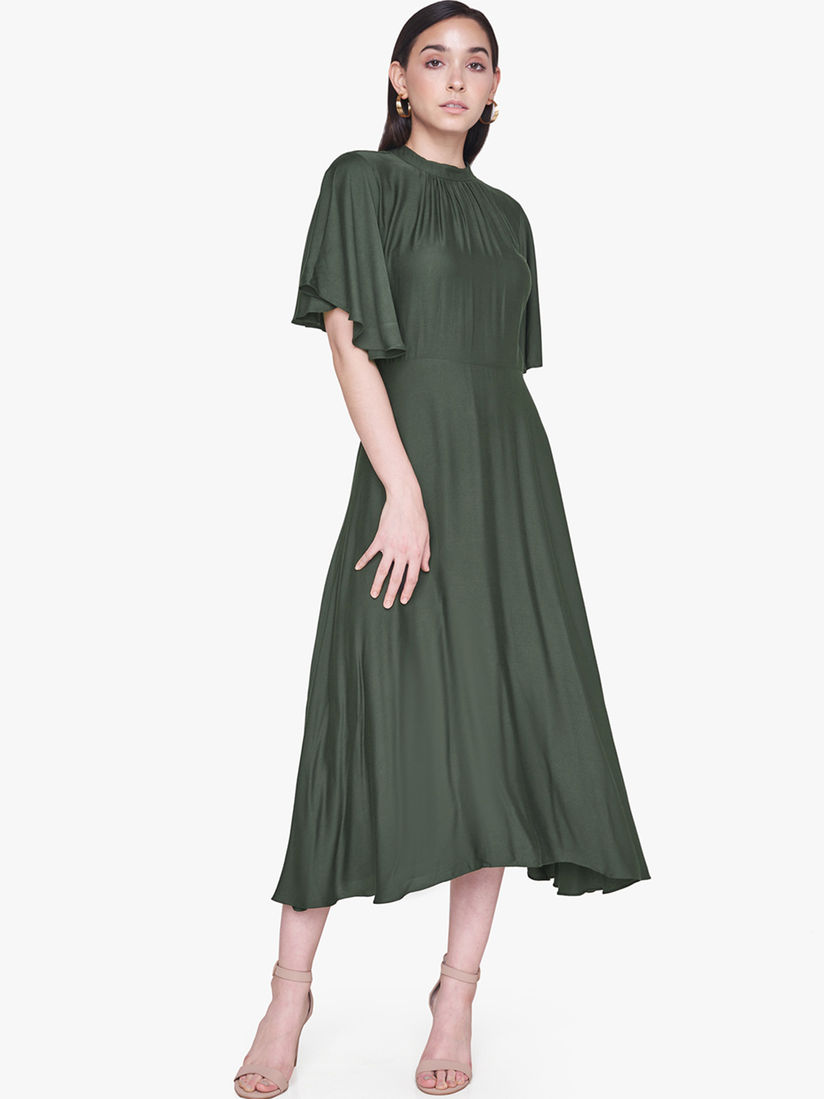 olive dress,