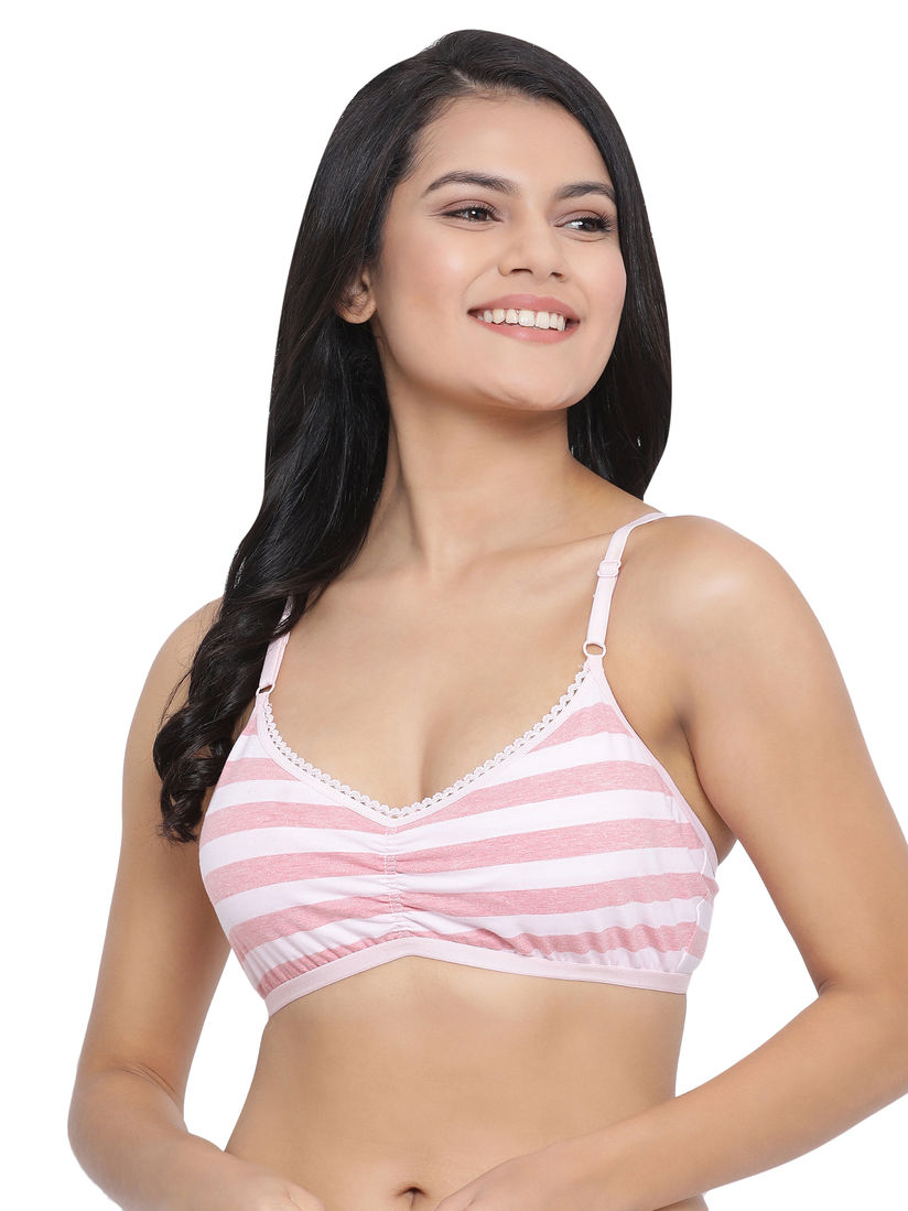 Black Underwired Bra Secrets Brand Padded Pink