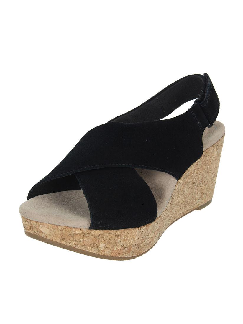 Buy CLARKS Black Solid Open Toe Sandals
