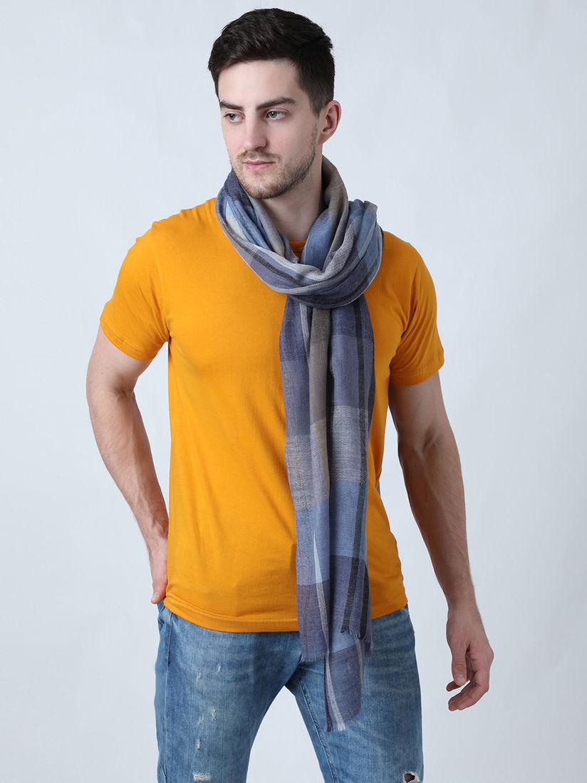 Calvadoss Scarves Mufflers Buy Calvadoss Self Designed Blue Family Wool Muffler Online Nykaa Fashion