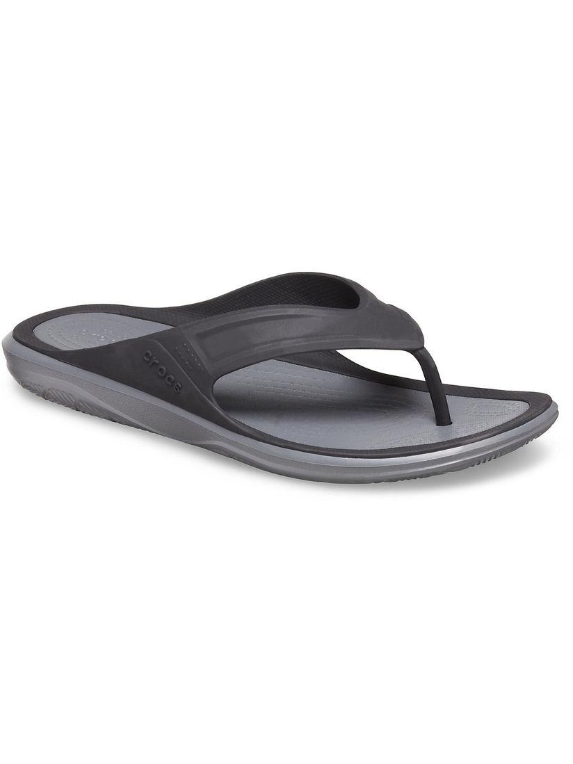 Crocs Swiftwater Wave Black Flip Flops