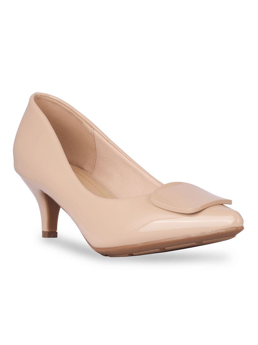 Buy CERIZ Nude Solid Heels