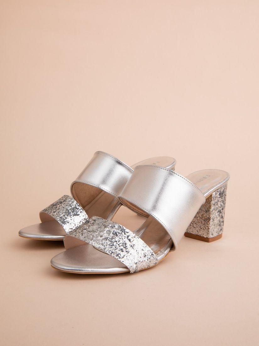 Buy ERIDANI Silver Erin Heels Online