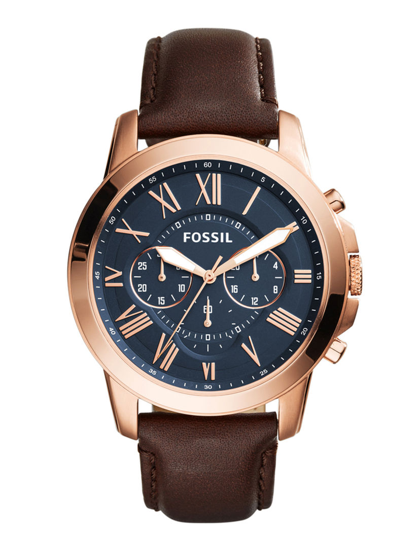 Fossil Watches : Buy Fossil Grant Brown Watch -FS5068 Online | Nykaa Fashion