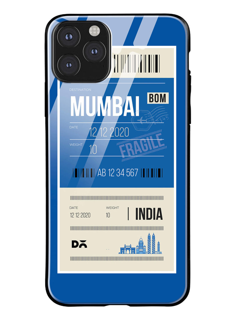 DailyObjects Multicolor Mumbai City Tag Glass Case Cover For iPhone 11 Pro Max 6.46
