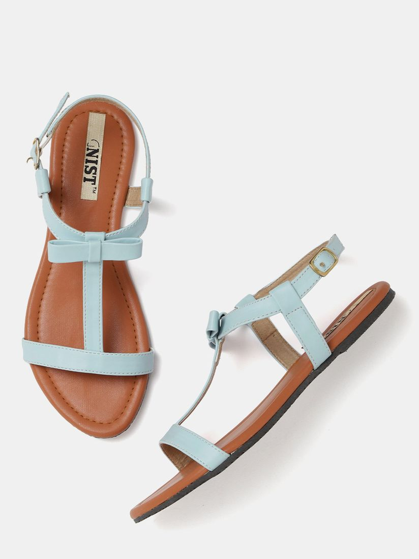 GNIST Cute Tie Blue Sandals Online