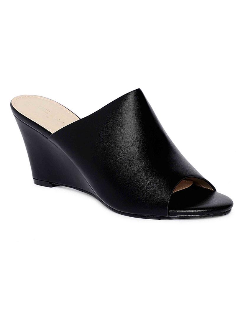 Buy Heel \u0026 Buckle London Black Peep-Toe