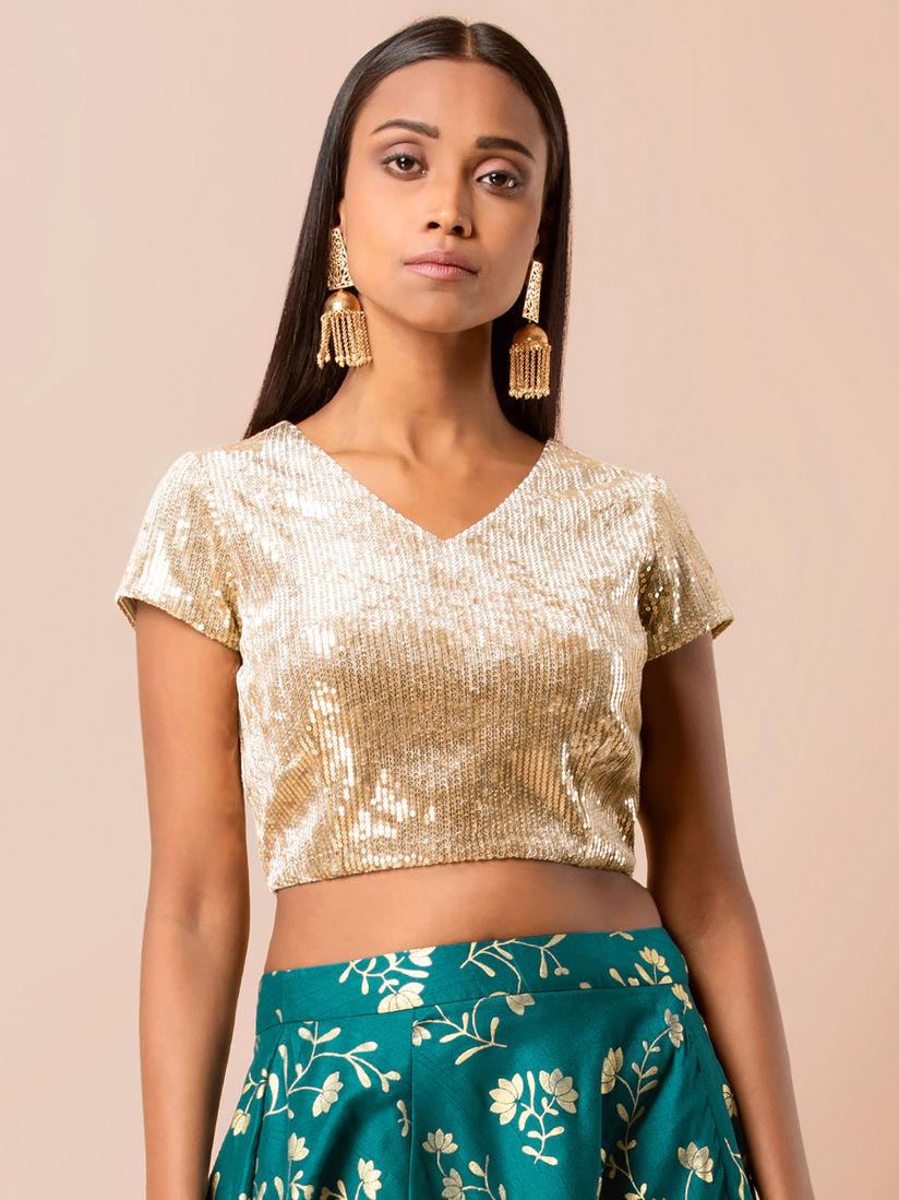 Indya Gold Sequin Blouse