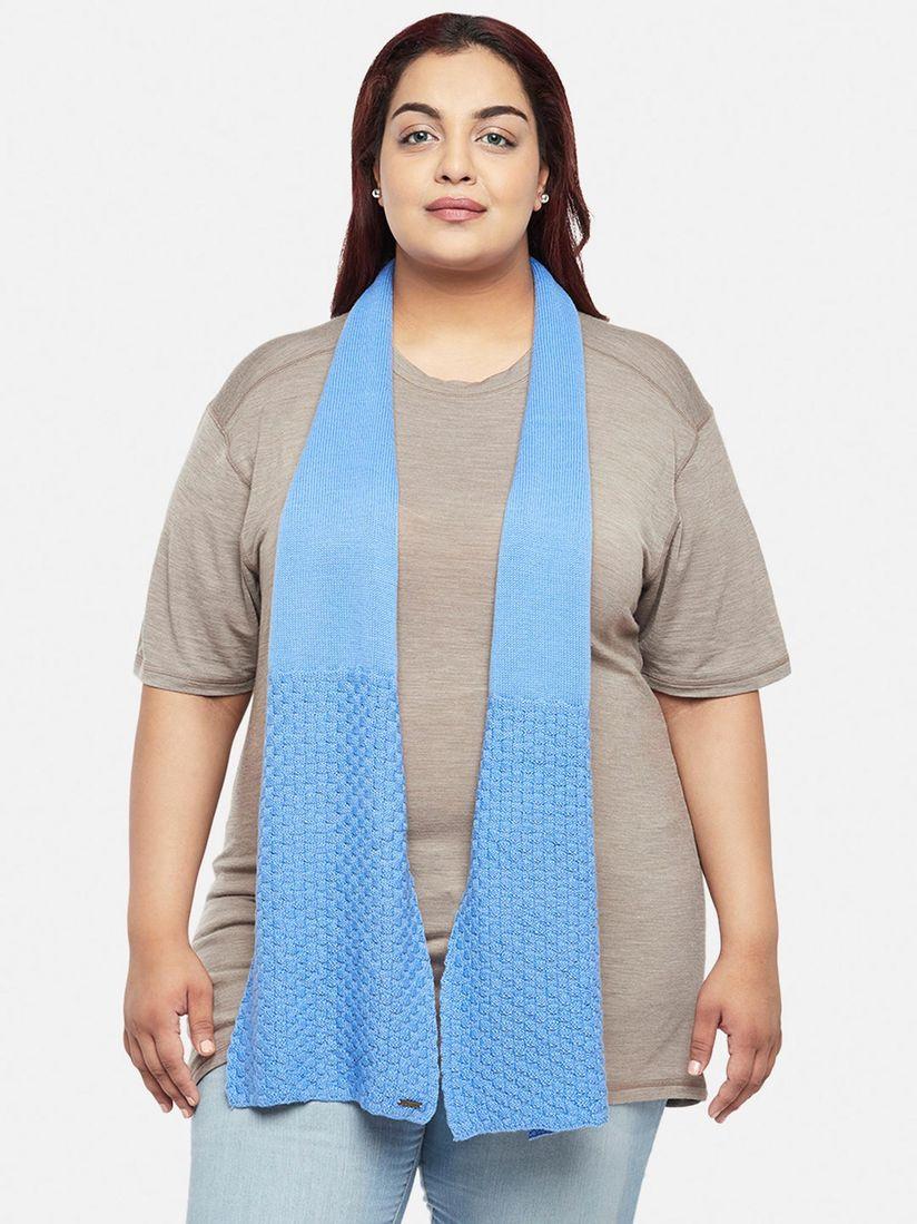 Kosha Muffler Buy Kosha Blue Merino Wool Basket Knit Muffler Online Nykaa Fashion