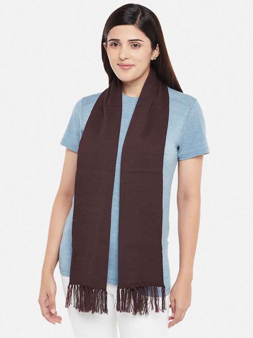 Kosha Muffler Buy Kosha Brown Merino Wool Plain Muffler Online Nykaa Fashion
