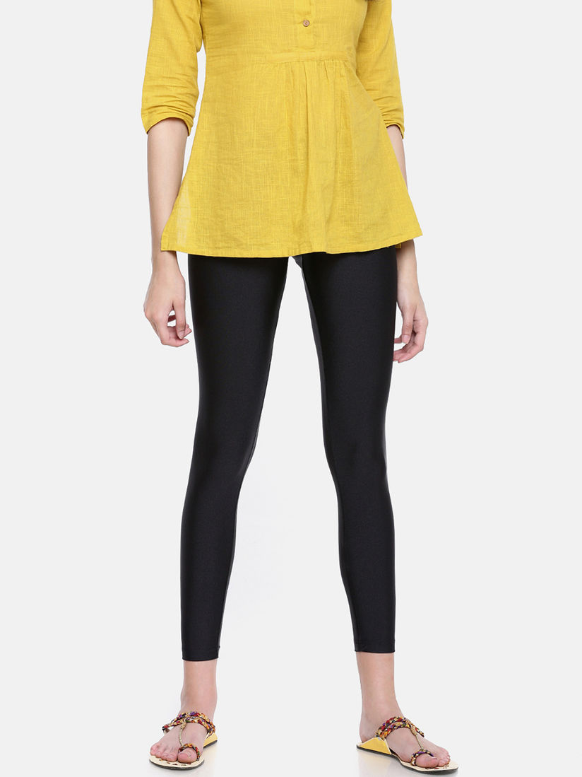 Go Colors Ethnic Bottoms Go Colors Black Shimmer Leggings Online Nykaa Fashion