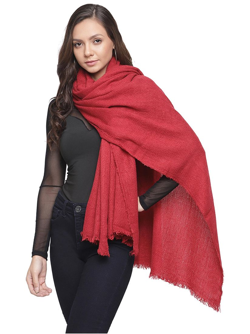 Tossido Scarves Buy Tossido Maroon Solid Soft Knit Muffler Online Nykaa Fashion