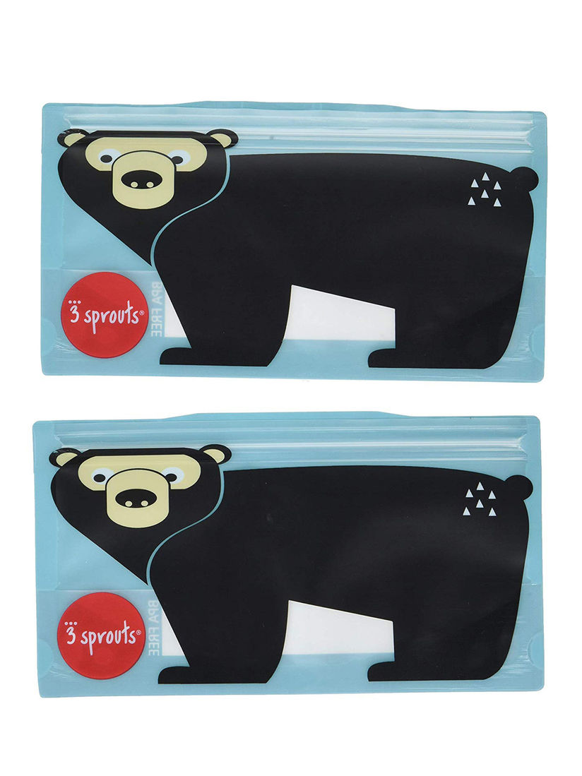 3 Sprouts Lunch Box Buy 3 Sprouts Blue Bear Snack Bags Set Of 2 Online Nykaa Fashion