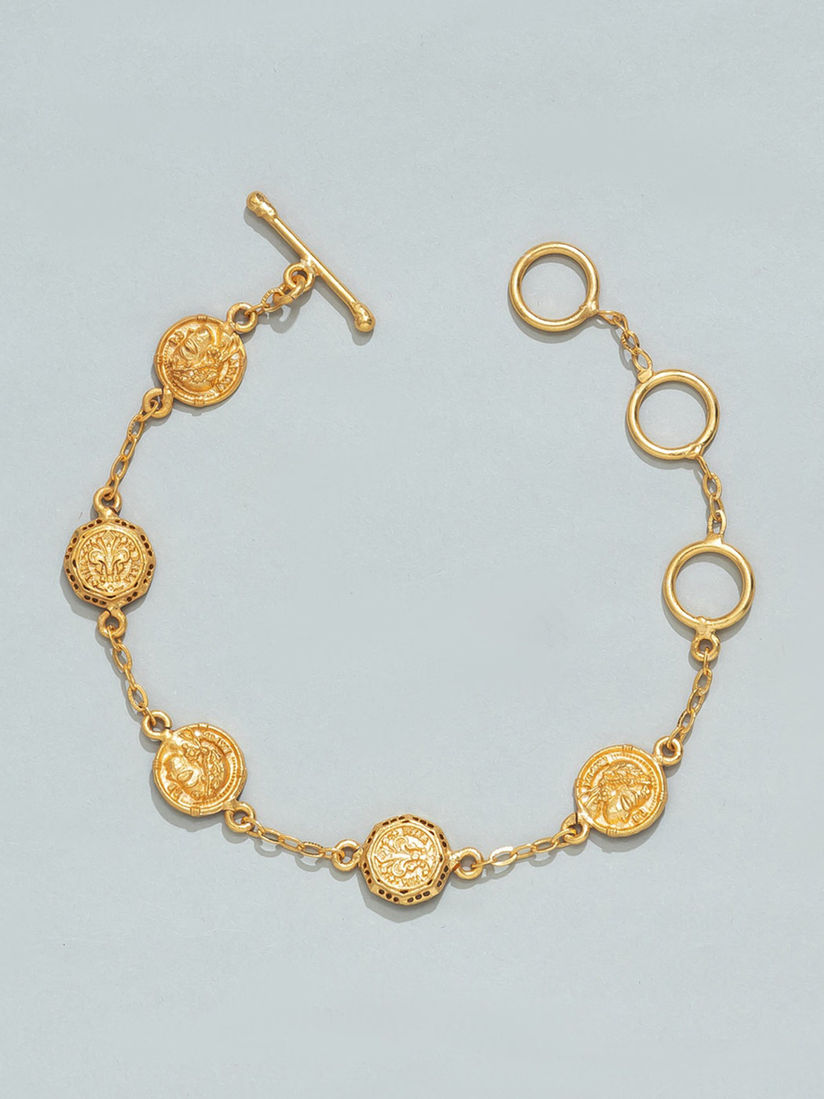 Pipa Bella Verona Gold Charm Bracelet
