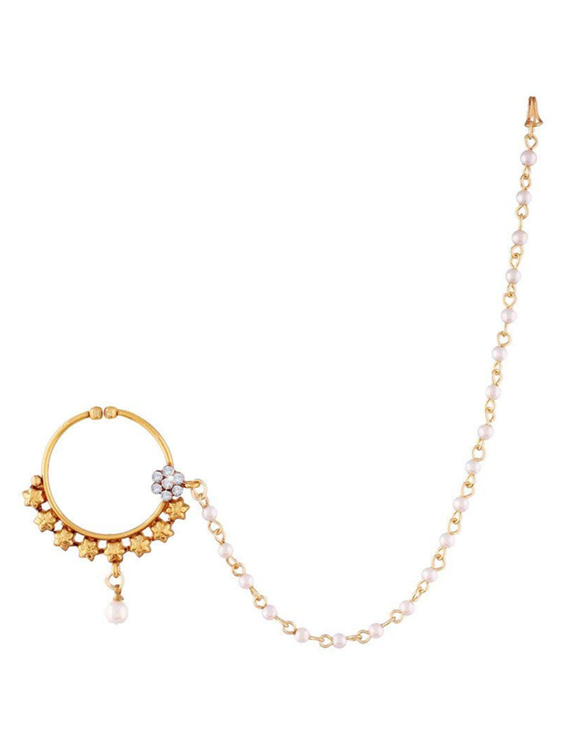 Peora Nath And Nose Rings Buy Peora 18k Gold Plated Nose Ring