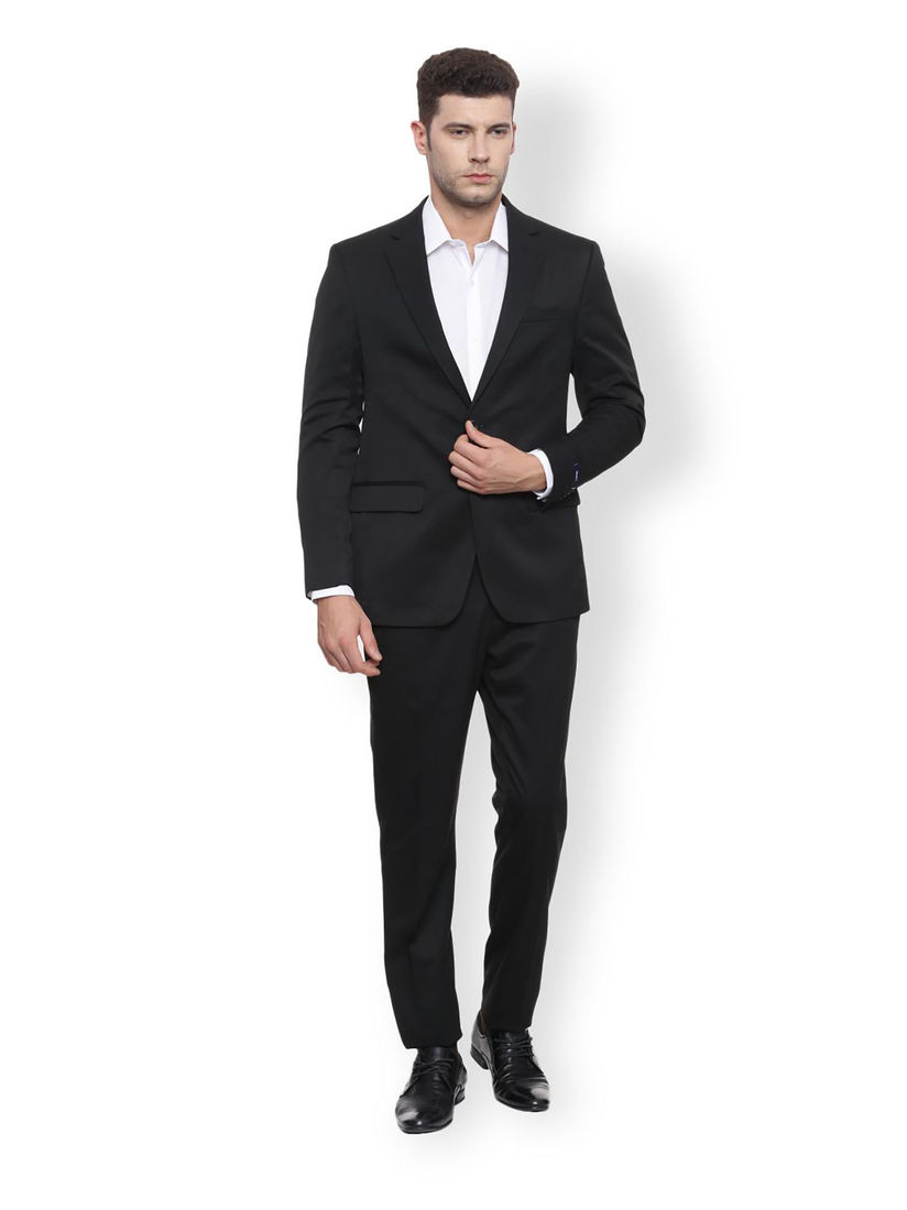 Peter England Suits Buy Peter England Black Solid Two Piece Suit Online Nykaa Fashion
