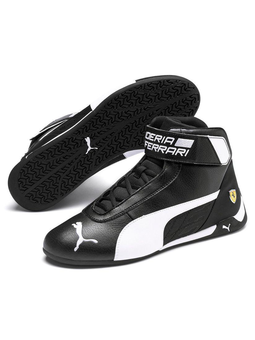 Puma Sports Shoes Sneakers Buy Puma Black Scuderia Ferrari R Cat Mid Unisex Sneakers Online Nykaa Fashion