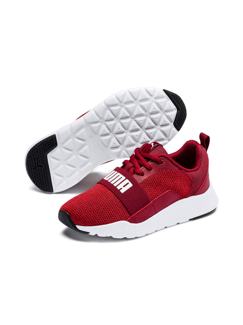 Buy Puma Maroon Wired Knit PS Shoes