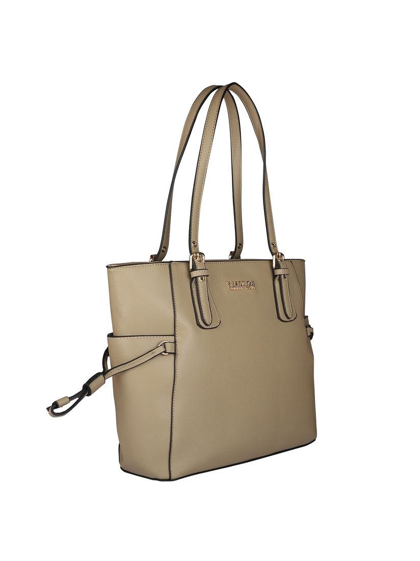 Kenneth Cole Beige Solid Handbag