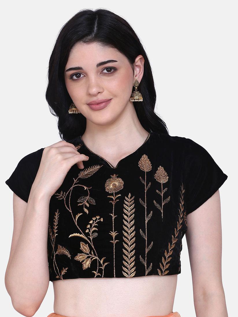 Shaily Blouse Buy Shaily Black Velvet Blouse Online Nykaa Fashion