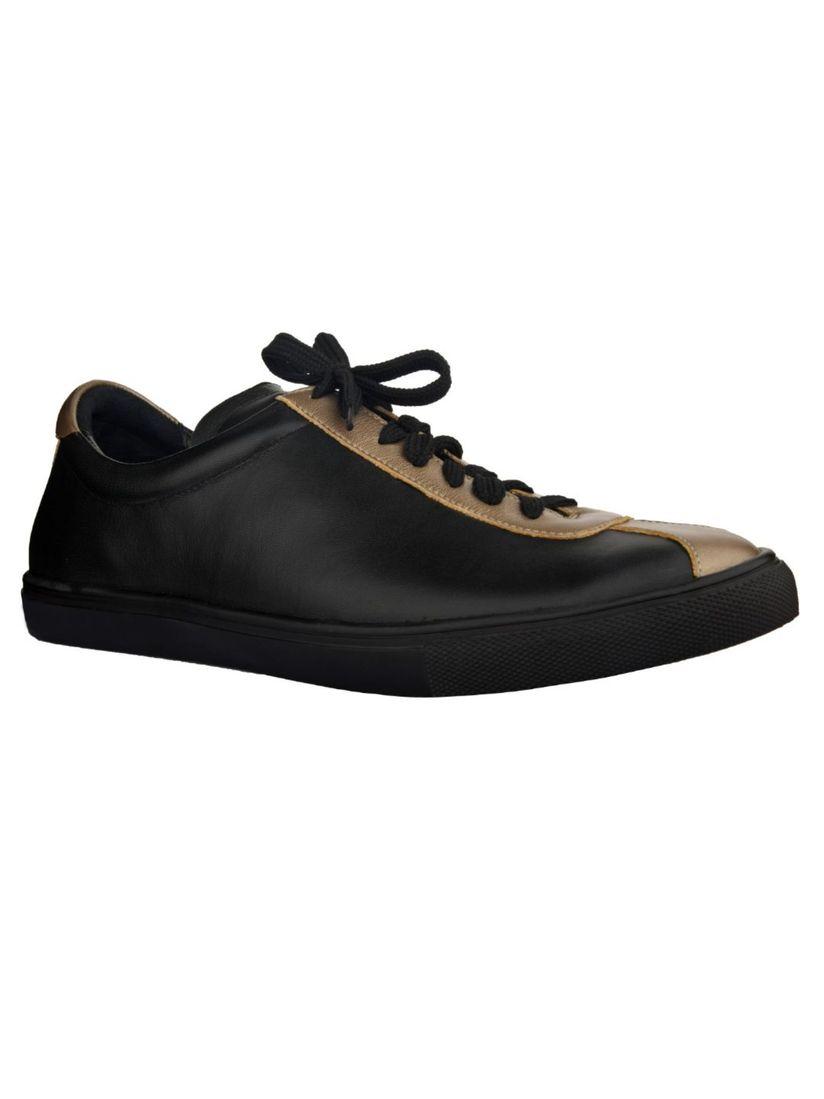 Buy SKO Black Solid Sneakers Online