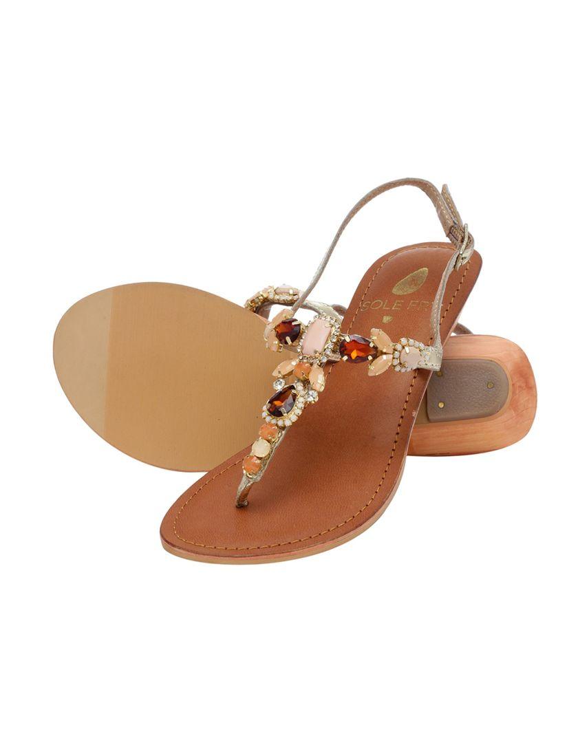 Buy Sole Fry Venus Gold Sandals