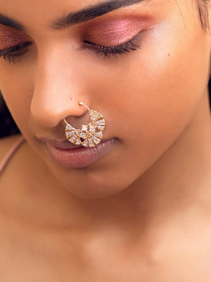 Zariin Nose Rings And Nath Zariin Boho Bridal Nose Ring Online