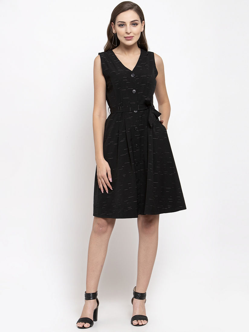 Miss America 1950s Black Cocktail Dress with Bows and Lace Knee Length Short Sleeve Dress Ethel Allan Vintage Black Sheath Dress