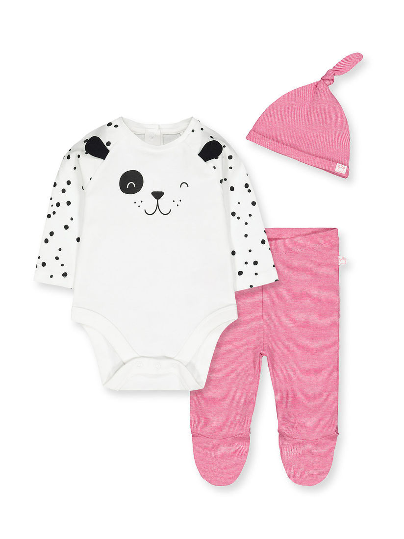 Mothercare Kids Sets Buy Mothercare Multi Color Printed Onesie With Leggings With Cap Pack Of 3 Online Nykaa Fashion