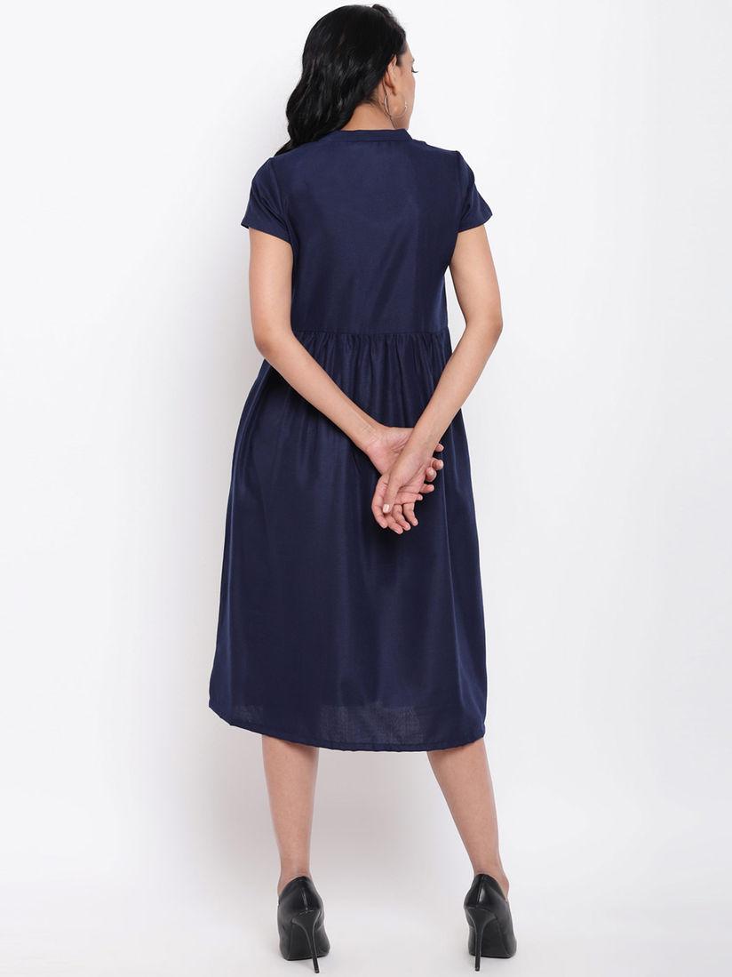 Truebrowns Linen Cotton Navy Blue