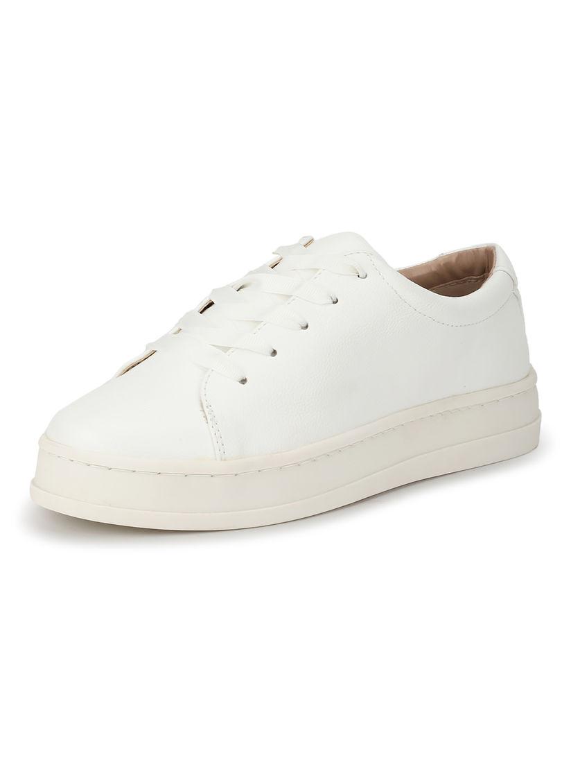 Buy Van Heusen White Round Toe Sneakers