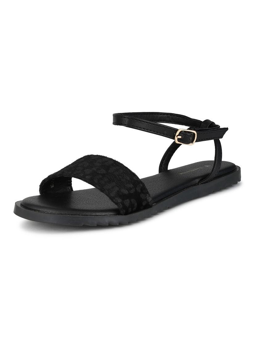 Buy Van Heusen Black Open Toe Sandals