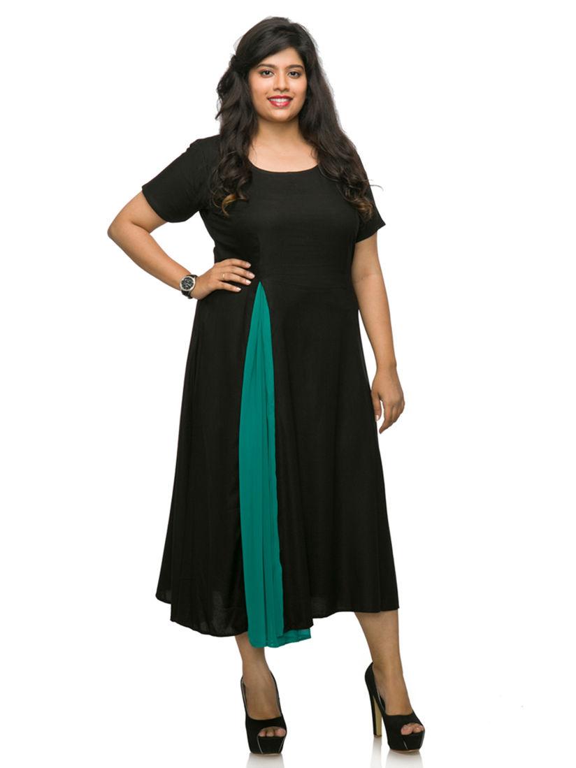 XXLLENT Dresses : Buy XXLLENT Plus Size Evening Wear Black Dress Online |  Nykaa Fashion.