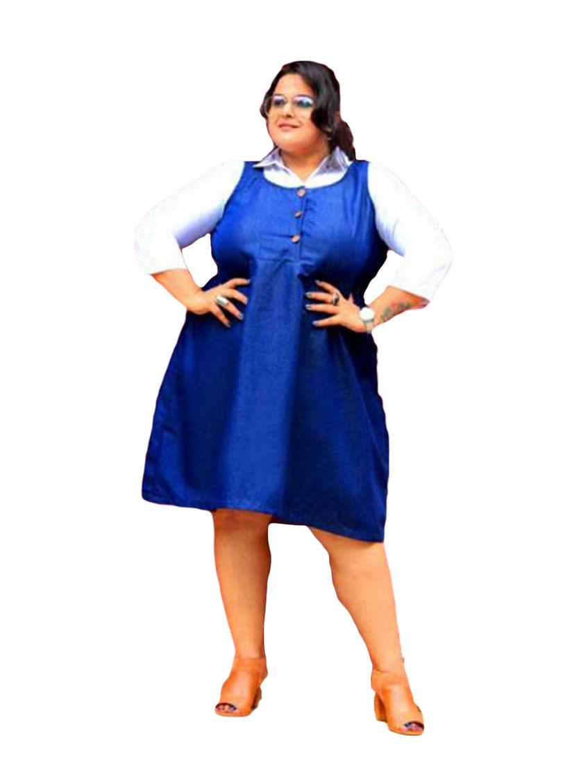 XXLLENT Dresses : Buy XXLLENT Plus Size Semi Formal Knee Length Dress  Online | Nykaa Fashion.
