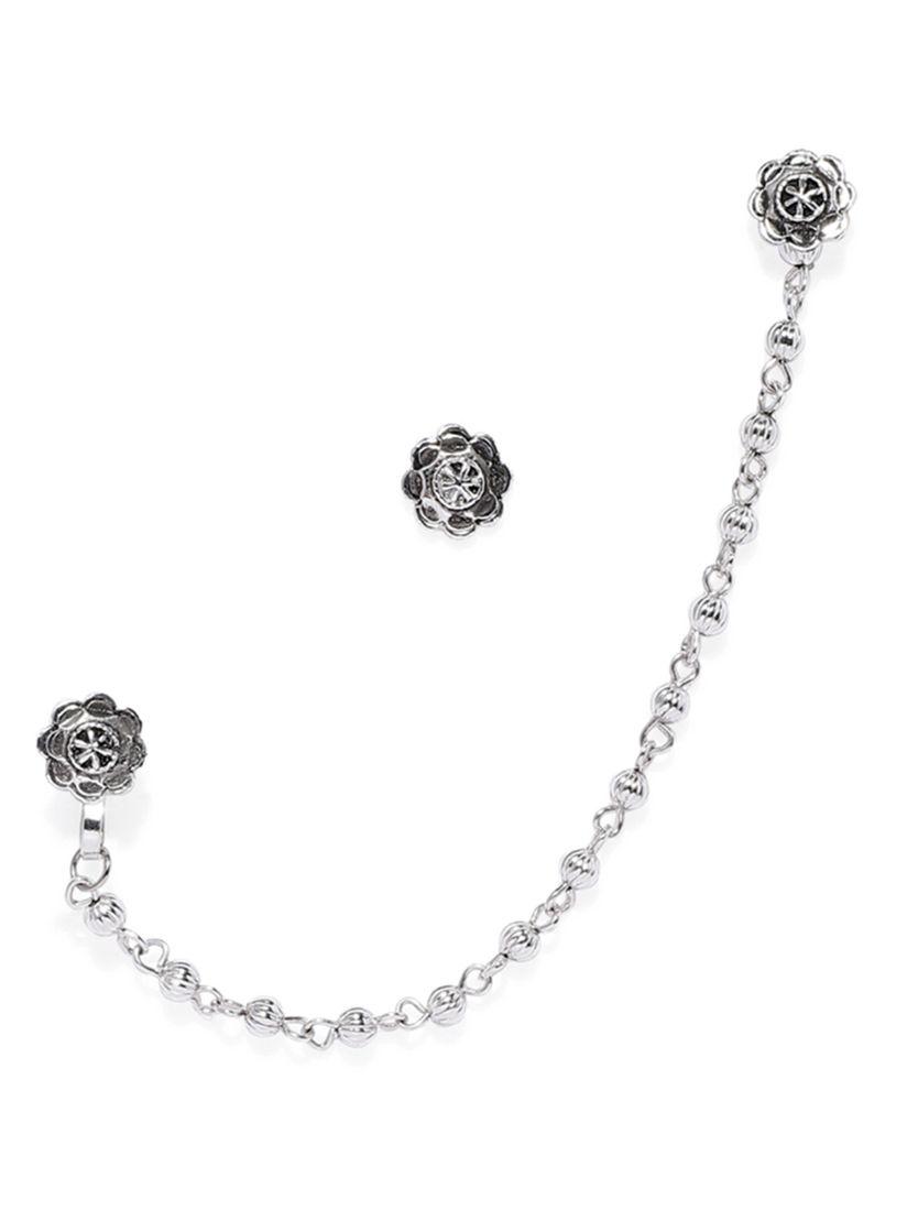 Zaveri Pearls Nose Rings Buy Zaveri Pearls Silver Tone Clip On